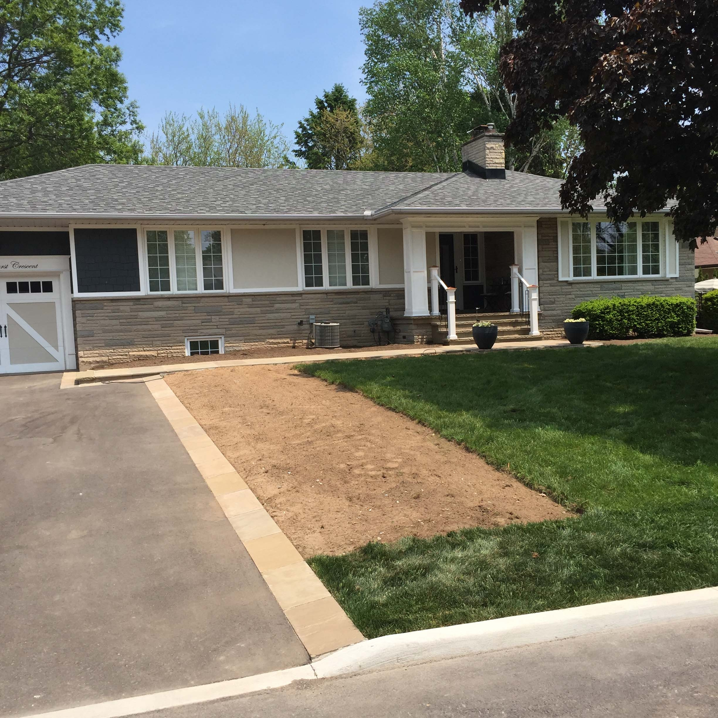 Front Yard Landscaping Sod Installation