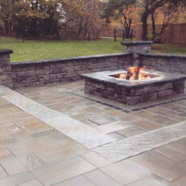 KDPLandscaping.com // Outdoor Fireplaces Interlock Fireplaces Custom Firepits