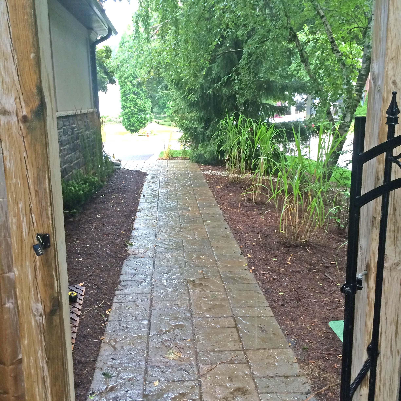 Interlocking Walkway Side of House