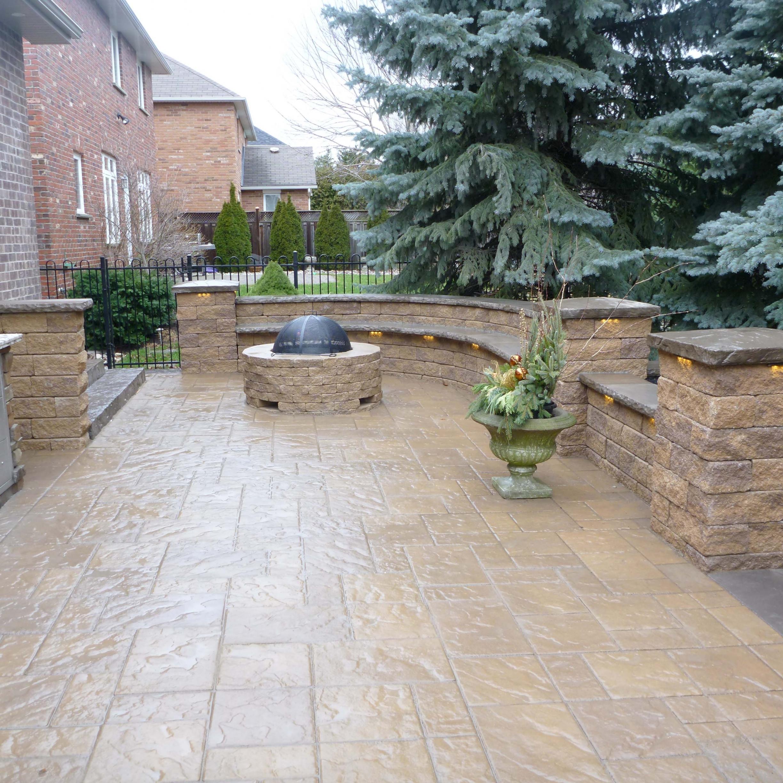 Patio Stones Outdoor Fireplace