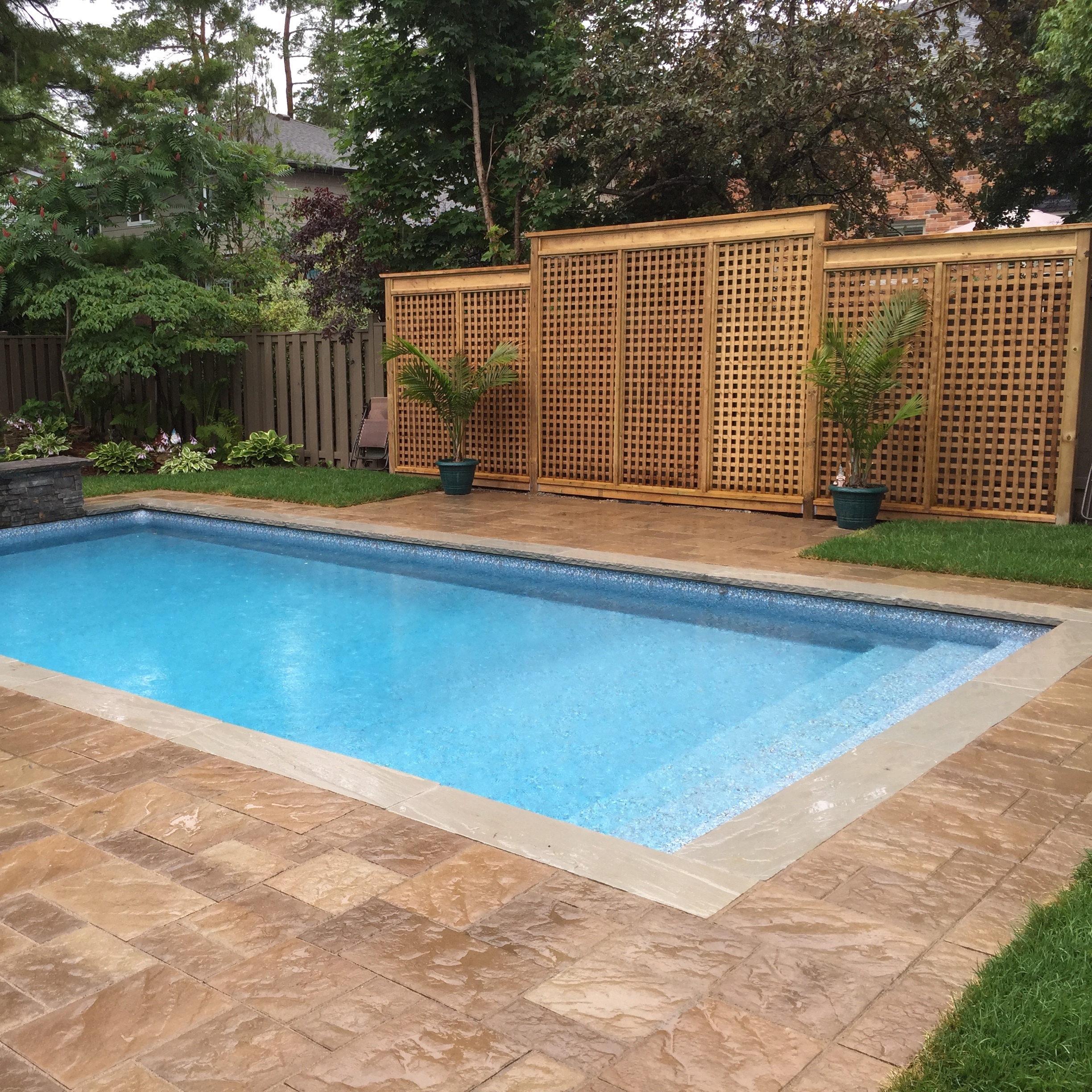 Pool Wooden Privacy Fence