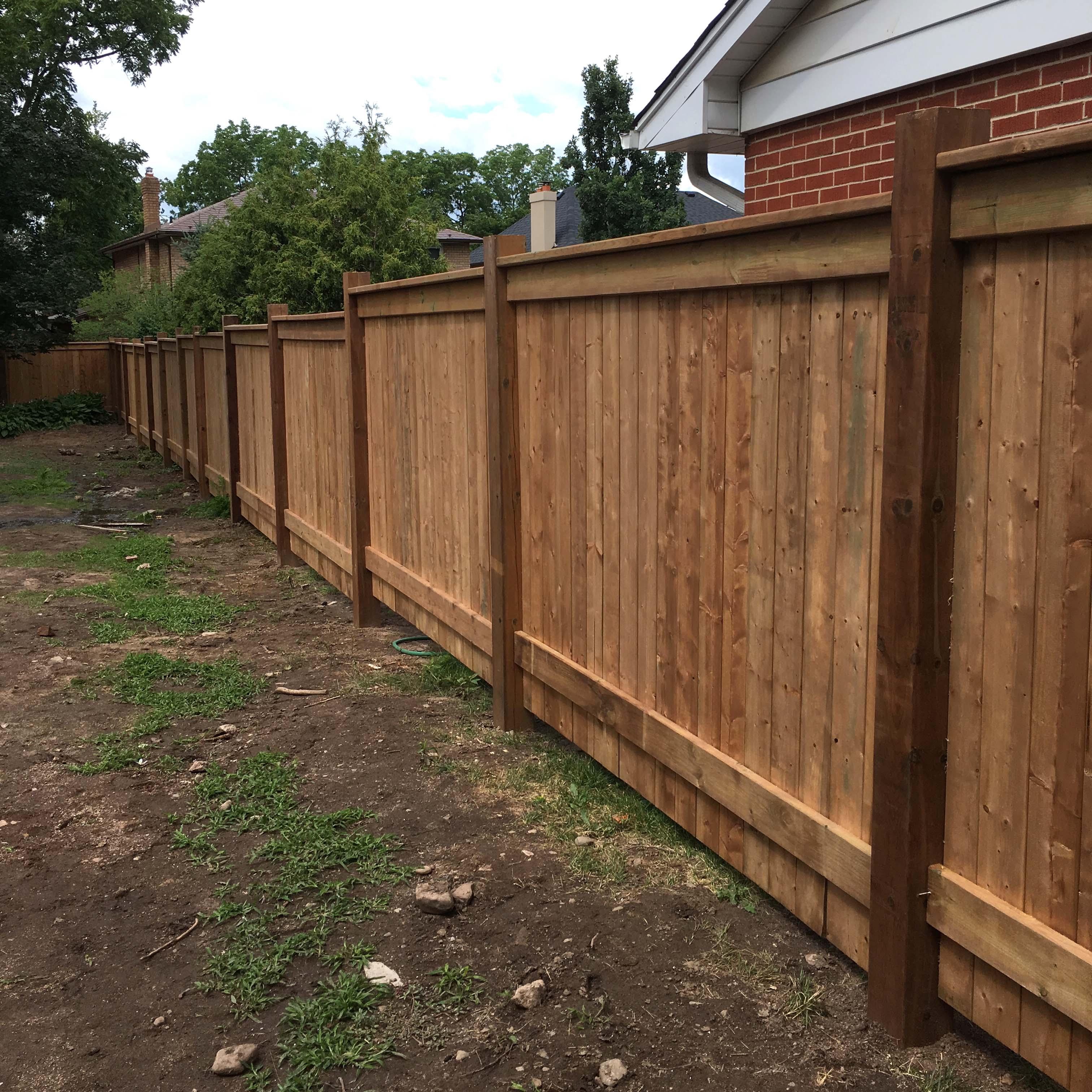 Wood Fence Panels • KDP Landscaping