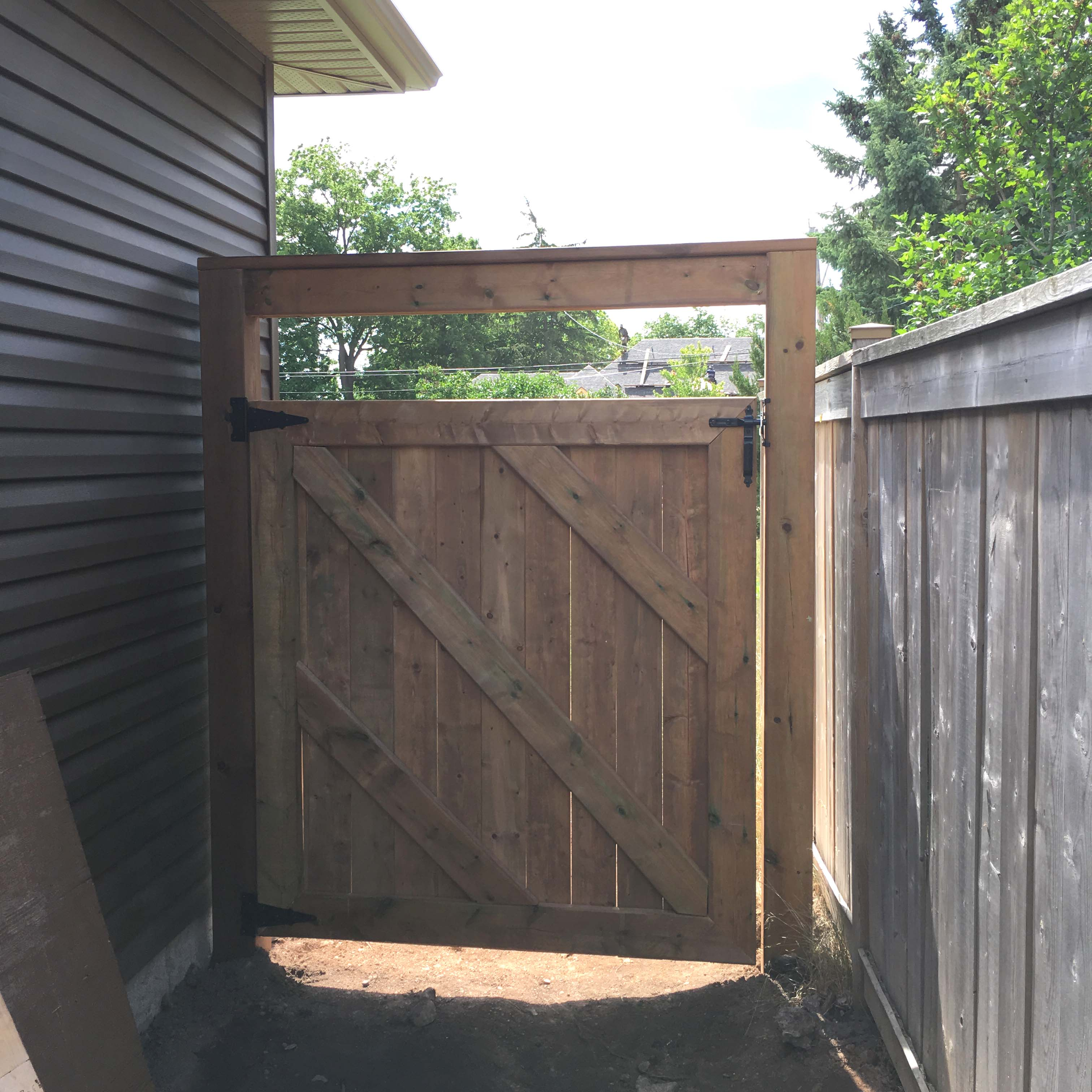 Wooden Gate Panel