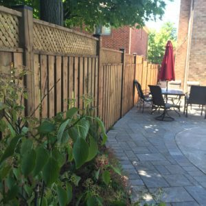 Wooden Lattice Privacy Fence